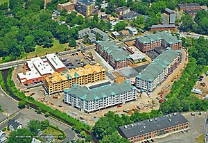 Aerial photography, construction progress, apartment development, Connecticut, architecture